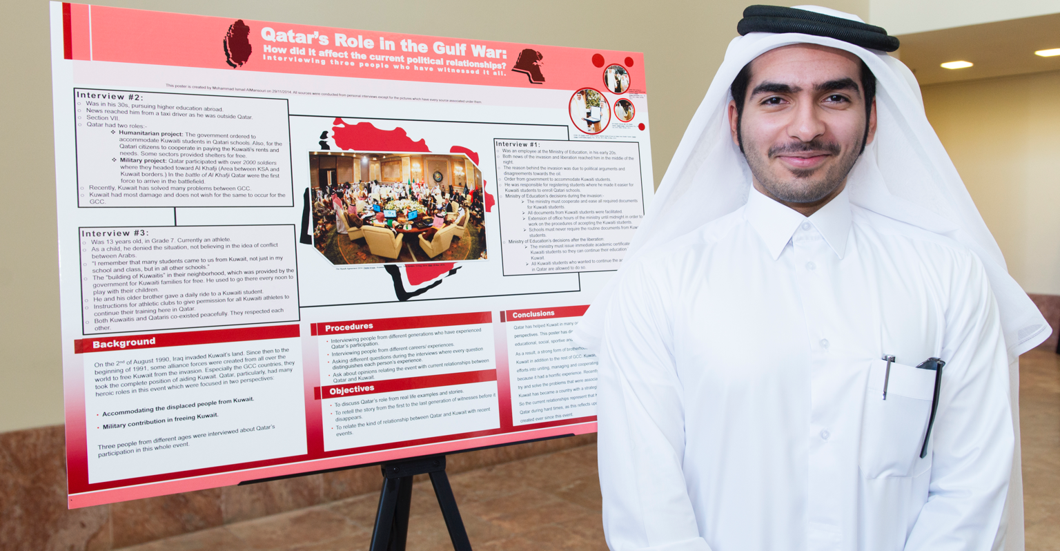 Arabic student presents project on Qatar's role in the Gulf War