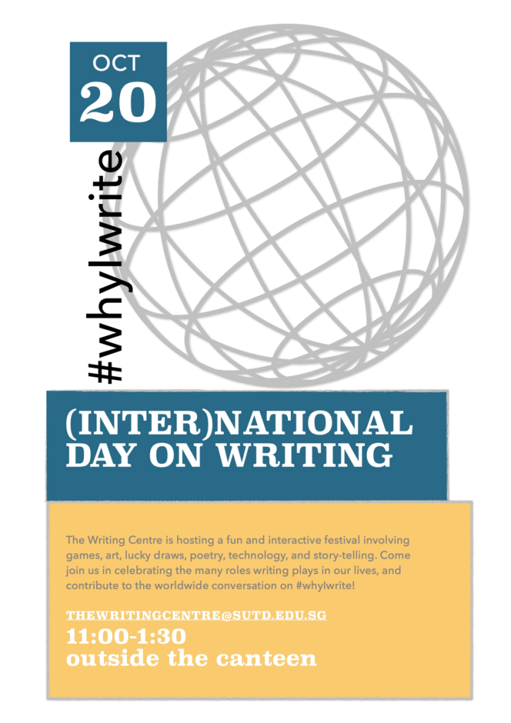 (Inter)National Day on Writing poster