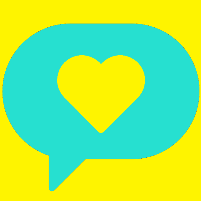 heart in a speech bubble